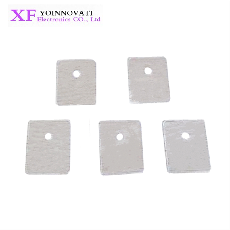 50pcs-247 Transistor Silicone Insulator Insulation Sheet 20*25mm Hot#/_sy