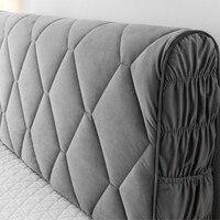 Capa completa de tecido de veludo  proteção de cabeça grossa de veludo para cama hotel hotel