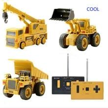 Hotty Toy Mini RC Construction Truck Trailer Car Tractor Excavator Model Bulldozer Crane RTR Loader Remote Control