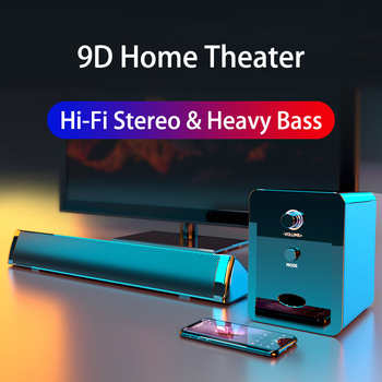 d6 speakers tv sound bar usb wired and wireless bluetooth home theater fm radio surround soundbar for pc tv speaker for computer 2020 TV Sound Bar USB Wired and Wireless Bluetooth Speaker Home Theater Surround Extra Bass PC Combination Computer Speakers