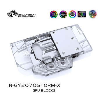 Bykski Water Cooling Block For Galaxy GeForce RTX 2070 RTX 2060 Super (1-Click OC) Gainword RTX 2070 GTX 1660TI,N-GY2070STORM-X