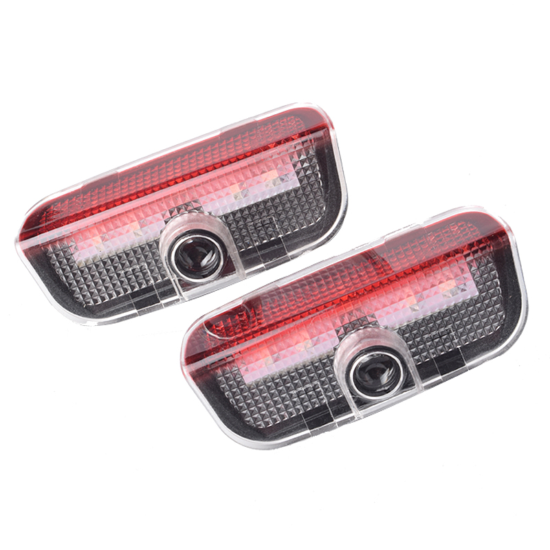 2X For Volkswagen VW Passat B6 B7 Tiguan Jetta MK5 MK6 MK7 CC EOS Golf 5 6 7 Car LED Logo Light Door Projector Welcome Lights