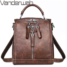 Small Backpack Multifunction Women Backpacks Vintage Leather School Bags For Girls Shoulder Bag Ladies Travel Backpack mochilas