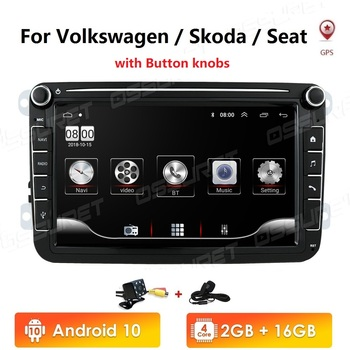 Car Multimedia player Android 10 GPS 2 Din Car Autoradio Radio For VW/Volkswagen/Golf/Polo/Passat/b7/b6/SEAT/leon/Skoda 2GB+16GB image