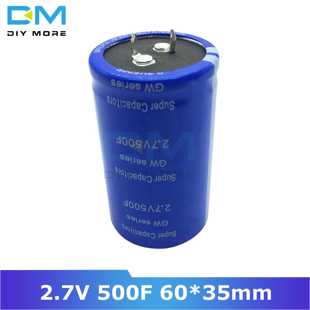 Super Farad Capacitor 2.7V 500F 60*35mm Vehicle Rectifier Low ESR Capacitor Ultracapacitor 2.7V500F 60x35mm 60x35 High Frequency