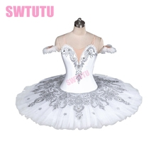 цена New Arrival!white swan lake ballet tutu costumes white pancake tutu gilrs ballet tutus professional tutuBT9082