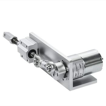 цена на 330L Small DIY Design Reciprocating Cycle Linear Actuator with DC Gear Motor 12V 24 Volt Stroke 12/16/20mm Adjustable 5~1000 Rpm