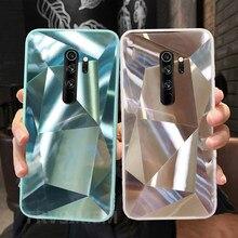 Caso de telefone diamante espelho brilho caso para redmi 9 9a9at9c nota 9s 9 pro max 8pro capa macia nota 8 nota 9s nota 9pro