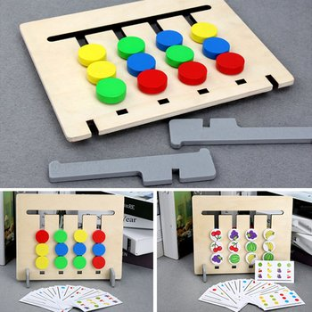 Four Colors Game Children Early Education Logical Thinking Training ENLIGHTEN Teaching Aids Intelligence Kindergarten Educationa flyingtown montessori teaching aids balance scale baby balance game early education wooden puzzle children toys