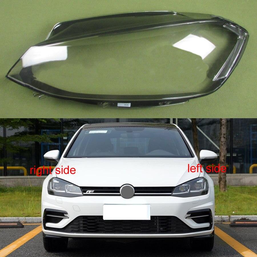 For Volkswagen VW Golf 7.5 2018 2019 Headlight Cover Transparent Shade Headlight Transparent Shell Lampshade Headlamp Lens