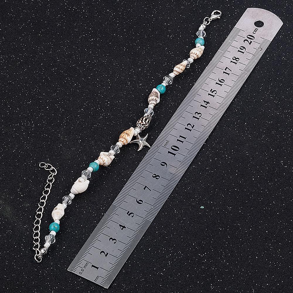 2019 New Simple Boho Women Bead Shell Anklet Ankle Bracelet Barefoot Sandal Beach Foot Jewelry 4