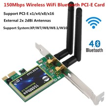 все цены на Bluetooth WiFi PCI-E Network Card 2.4G Wireless 150Mbps PCI-E PCI Express Internet Networking Adapter онлайн