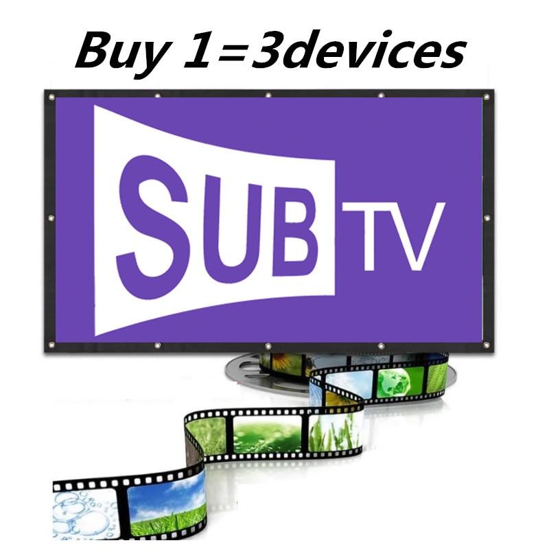 SUB TV Screen Hot Sell Португалия Бельгия Нидерланды World Smart Android защита для экрана телевизора 1 для 3 устройств