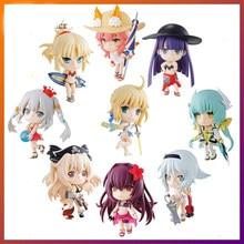 Anime kader/kalmak gece Altria Pendragon Saber Tamamo hiçbir Mae mayo Action Figure PVC 10cm koleksiyon Model bebek oyuncaklar için hediyeler