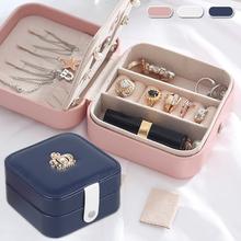 Jewelry Box Travel Comestic Jewelry Casket Organizer Makeup Lipstick Storage Box Beauty Container Necklace Gift tanie i dobre opinie CN (pochodzenie)