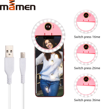 Get more info on the MAMEN Portable Selfie Ring Light Photo LED Photography Lighting Flash USB Charger For Camera DSLR Youtube For iPhone Smartphone