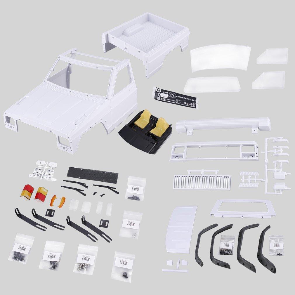AX-313B 12.3inch Wheelbase Pickup RC Car Body Shell DIY Kit for 1/10 RC Truck Crawler Axial SCX10 & SCX10 II 90046 90047 Model
