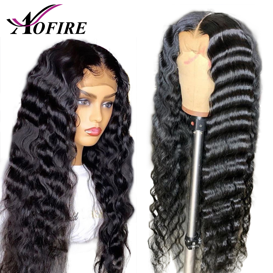 HD Transparent Lace Wigs 13x6 Lace Front Human Hair Wigs For Women Brazilian Remy Deep Wave Wig Pre Plucked With Baby Hair 130%