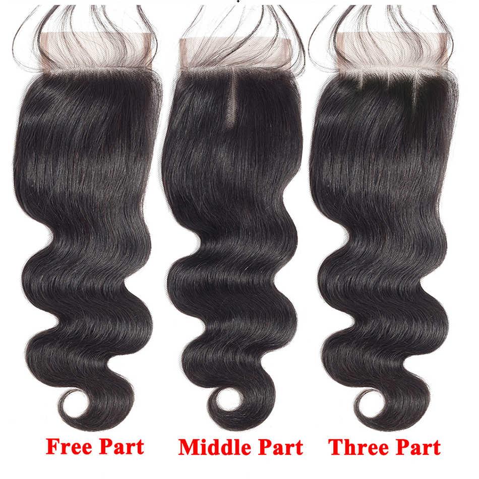 Bestsojoy Braziliaanse Haar Bundels Met Sluiting Human Hair Weave Body Wave Bundels Met Sluiting Remy Haar Bundels Met Sluiting