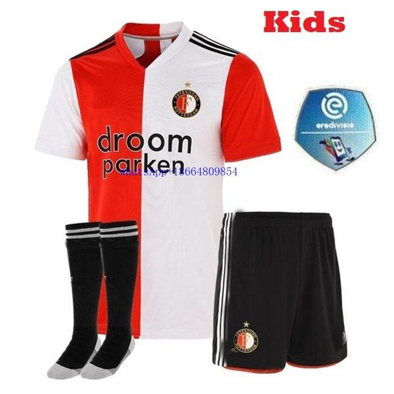 Kids Kit 20 21 Feyenoord Soccer Jerseys Home Away 2020 2021 Larsson V Persie Vilhena Football Shirt Jorgensen Camiseta De Futbol T Shirts Aliexpress