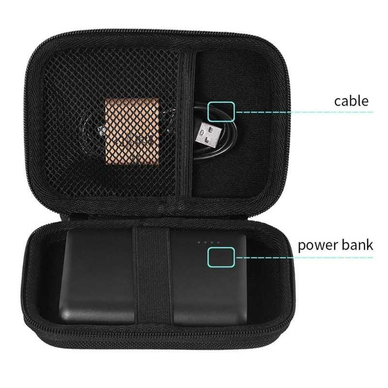 Estuche rígido con cremallera EVA bolsa de almacenamiento para auriculares Anker PowerCore 13000mAh