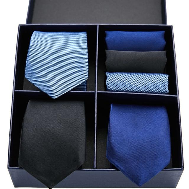 Plaid Necktie & Handkerchief Sets 4