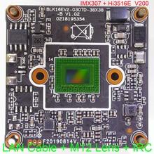 "IPC (1080 P) 1/2. 8 ""SONY STARVIS IMX307 CMOS bild sensor Hi3516E V200 CCTV IP kamera PCB board modul + LAN kabel + IRC + M12 Objektiv"