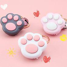 Morbido appiccicoso Mini impronta di gatto zampa gioco portachiavi LED memoria elettronica giochi di compressione per bambini annuncio