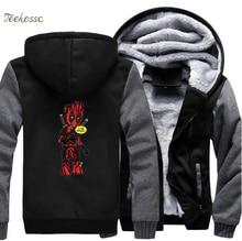 Dealpool Hoodie Men  I Am Pool Hooded Sweatshirt Coat 2018 Winter Brand Fleece Super Hero Deal Pool Groot Jacket Funny Clothes цена и фото