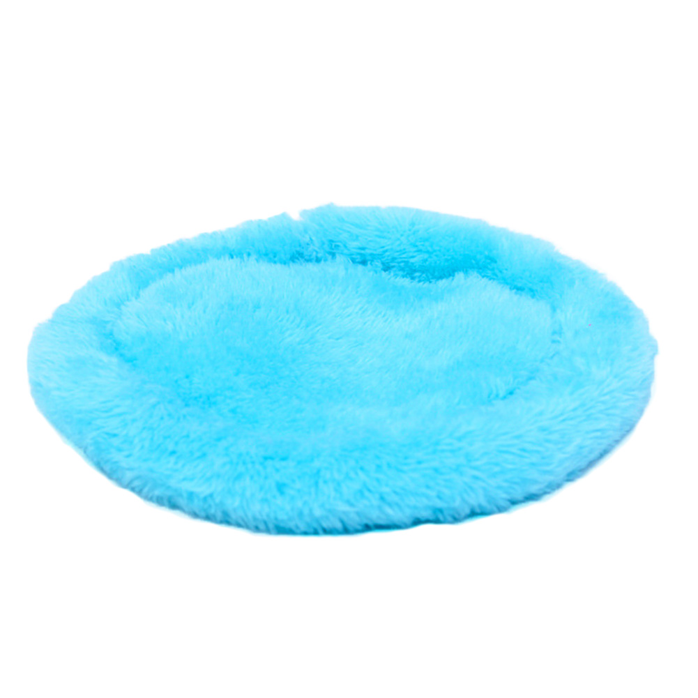 Bed Pet Mat Relax Round Warm Soft <font><b>Plush</b></font> Pad Small Animal Solid Autumn Winter Sleeping Cage Hamsters <font><b>Guinea</b></font> <font><b>Pig</b></font> image