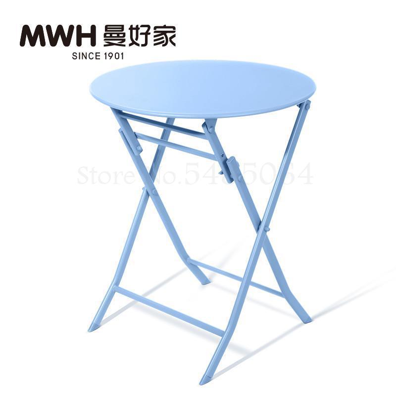 Железный маленький стол, складной небольшой квадратный стол, простой маленький круглый стол, журнальный столик для спальни, маленький обеденный стол для балкона - Цвет: Sparks Fy 5