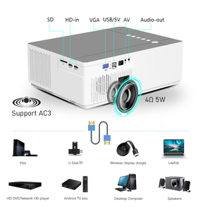Image 5 - BYINTEK K20 Full HD 1080P 3D akıllı Android Wifi 300 inç ev sineması oyunu LED Video projektör projektör Beamer 4K sinema