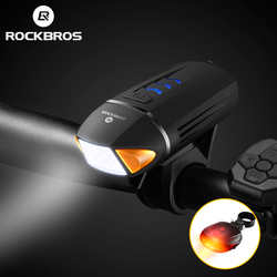 Велосипедный фонарь ROCKBROS, Перезаряжаемый USB, 350 люменов, светодиодный фонарь для велосипеда, велосипедный беспроводной фонарь с поворотника...