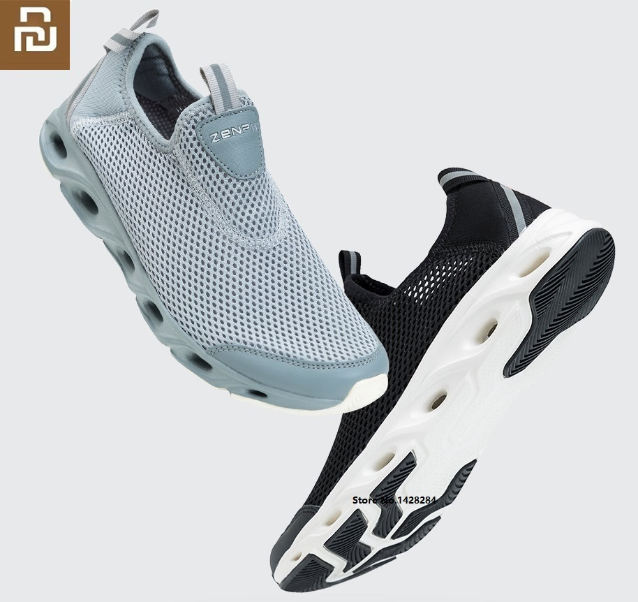 Youpin ZENPH Men Lightweight Non-slip Breathable Shoes Mesh Quick Drying Non-slip High-elastic Cushioning Comfortable Sneakers