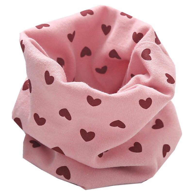 Осенне-зимний детский хлопковый плюшевый шарф, детский шарф для девочек, шарфы для мальчиков и девочек, детский воротник, детский волшебный шейный платок с круглым вырезом - Цвет: pink heart