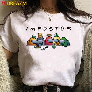 New Game Among Us T Shirt Women Kawaii Summer Tosp Cartoon Graphic Tees Funny Harajuku T-shirt Unisex Fashion Tshirt Female