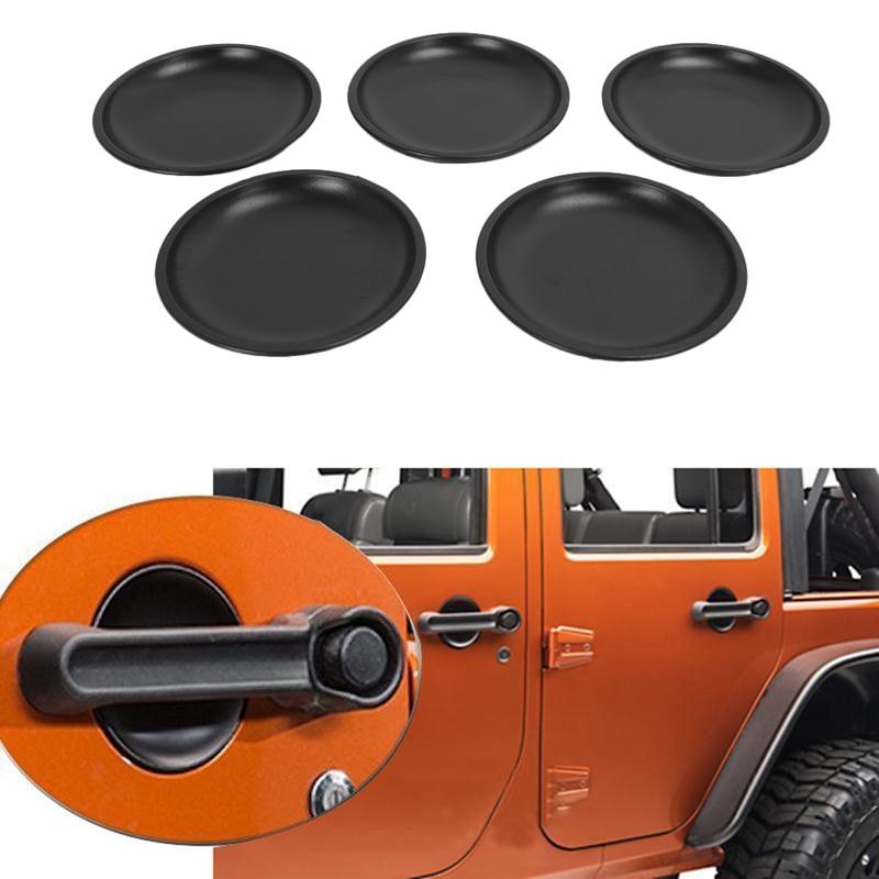Door Handle Recess Guard Bowl for Jeep Wrangler 2007-2017 JK 4 Door Car Outside Door Handle Recess Guard Cover Trim