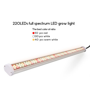Image 2 - フルスペクトラムはライト 80 ワットチューブ led フィトランプ 85 v 265 v led ランプバー水耕植物成長ライトウォームホワイト赤