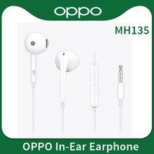 OPPO سماعة رأس MH135 مع ميكروفون مدمج ، قابس 3.5 مللي متر ، كابل من النوع C ، للهاتف الذكي FIND X R17 Pro Reno 10 3 3 Pro