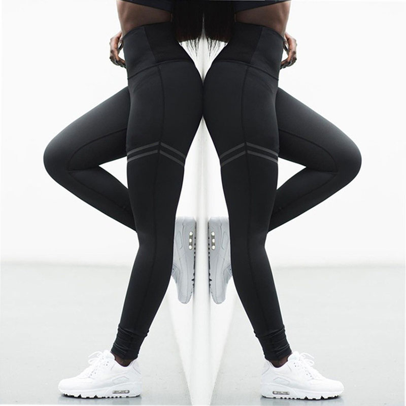 BEFORW Women High Push Up Leggings Hollow Fitness Leggins Workout Legging For Women Casual Breathable Patchwork Sportswear 4