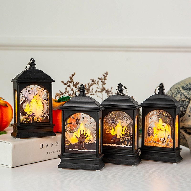 Dropshipping Halloween Decoration Props New Night Light Led Wind Bar Scene Layout Desktop