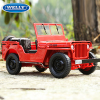 welly 1:18 Jeep Willis alloy car model simulation car decoration collection gift toy Die casting model boy toy