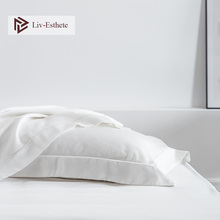 Liv Esthete Noble White 100 Nature 25 Momme Silk Pillowcase Silky Healthy Hair Skin Pillow Case
