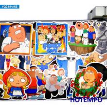65 pçs engraçado família série de tv comédia dos desenhos animados peter griffin adesivos para telefone diy caso almofada do portátil skate anime decalques adesivo