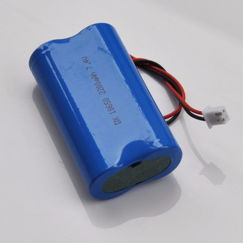 1-2PCS <font><b>2200mAh</b></font> <font><b>7.4V</b></font> 18650 lithium ion rechargeable <font><b>battery</b></font> Li-ion cell protected XH 2.54 Plug for speaker amplifier led light image