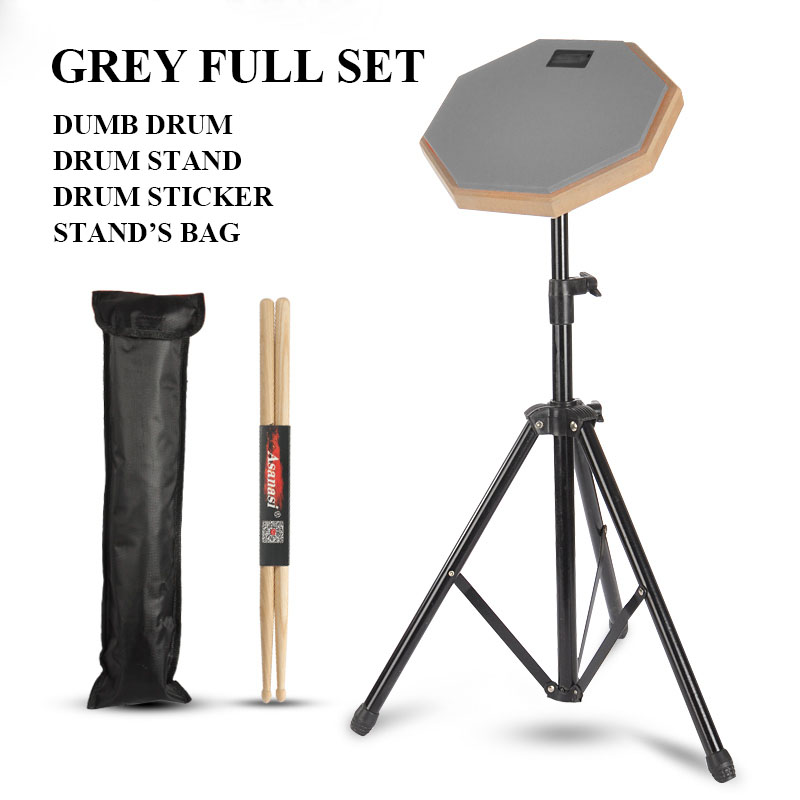 8 Inch Rubber Wooden Dumb Drum For Beginner Practice Training Drum Pad Stand And Drumstick For Percussion Instruments Parts