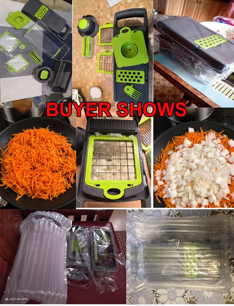 绿色切菜器买家秀