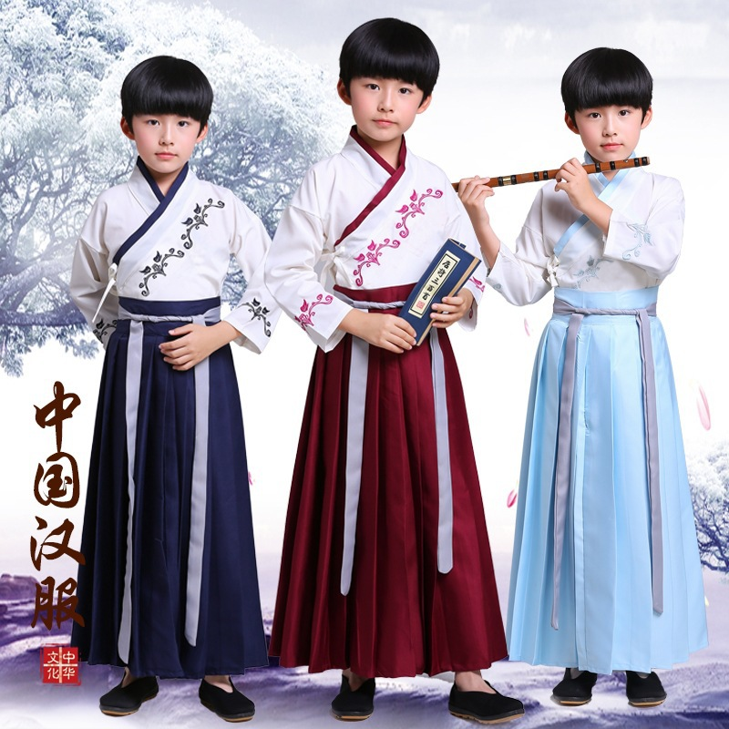 New Style Children Chinese Clothing Children Ancient Costume Dressing Up Clothing Antique Style Program Performance Wear Costume