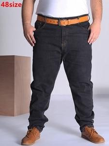 Image 1 - ฤดูใบไม้ร่วงกางเกงยีนส์ขนาดใหญ่ผู้ชายขนาดใหญ่สีฟ้าขนาดใหญ่ยืดหยุ่นชายใหญ่กางเกง46 50 52