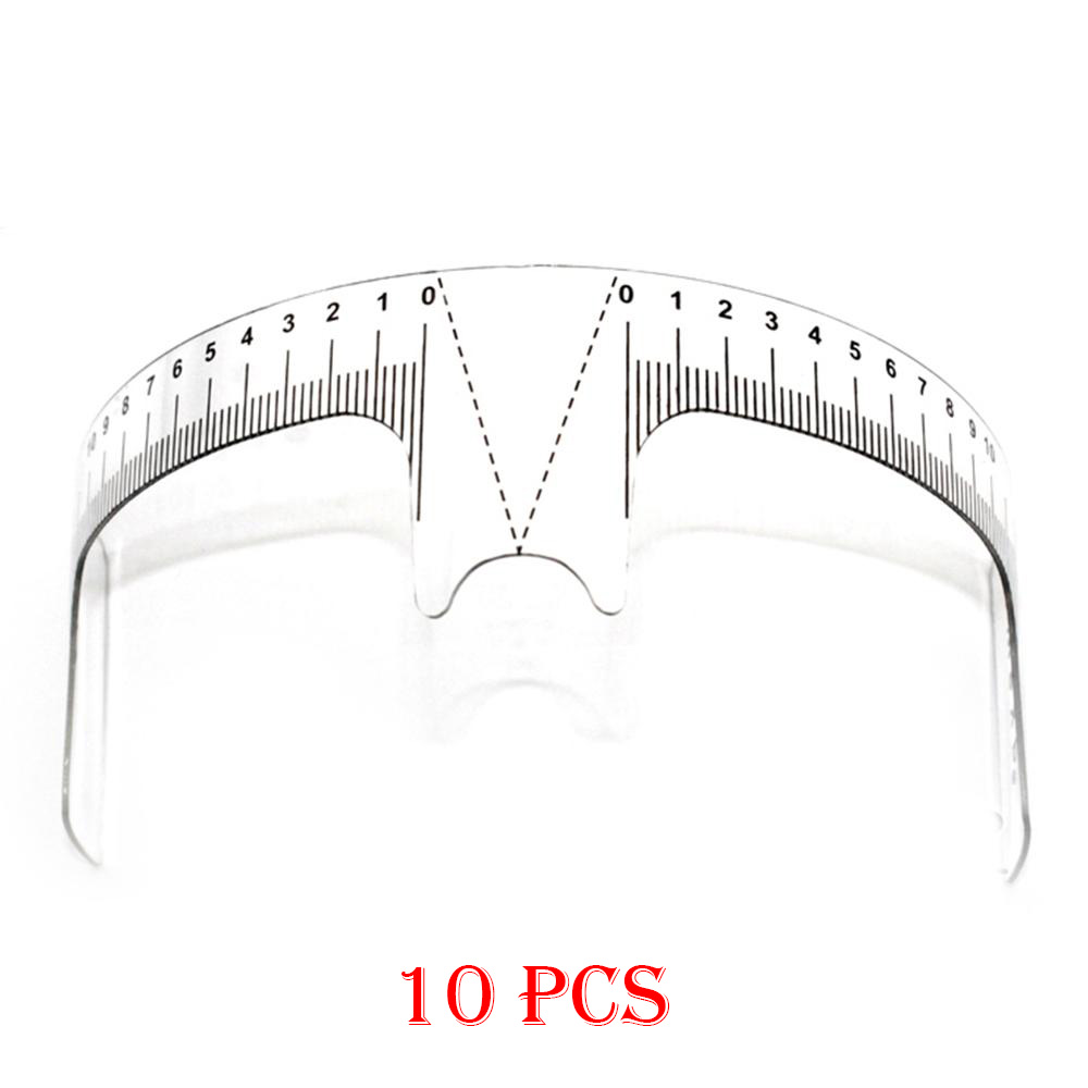 10PCS Reusable Semi Permanent Eyebrow Ruler Eye Brow Measure Tool Eyebrow Guide Ruler Microblading Calliper Stencil Makeup Tools-in Eyebrow Stencils from Beauty & Health